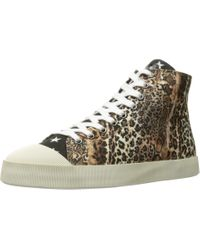 Just Cavalli Mixed Printed Canvas High Tops (natural) Shoes