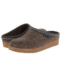 Haflinger Brown Gz Classic Grizzly (grey) Clog Shoes