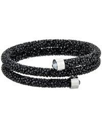 Swarovski - Black Crystaldust Bangle Bracelet - Lyst
