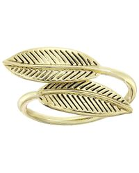 House of Harlow 1960 - Metallic Sacred Leaf Wrap Ring - Lyst