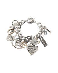 Guess Pink 179167-21 (ir/hematite/gold) Charms Bracelet