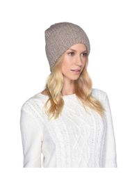 Ugg - Multicolor High Cuff Knit Hat (light Grey) Caps - Lyst