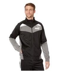 PUMA Black Color Block Retro Track Jacket for men