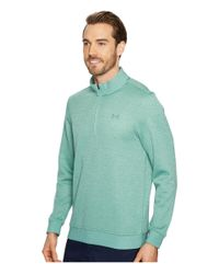 Under Armour - Green Ua Storm Sweaterfleece 1/4 Zip for Men - Lyst