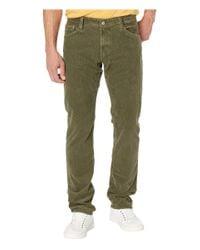 AG Jeans Green Graduate Tailored Leg Cord Pants for men