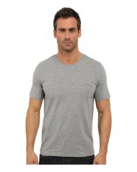 BOSS - Gray Logo-detail Stretch-cotton T-shirt for Men - Lyst