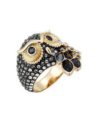 Swarovski Multicolor March Owl Motif Ring (dark Multi) Ring