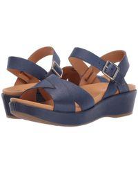 Kork-Ease Blue Myrna 2.0 (navy Full Grain Leather) Women's Wedge Shoes