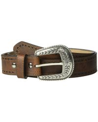 Ariat Brown Classic With Pierced Edge Trim Belt
