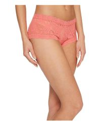 Hanky Panky Orange Signature Lace Boyshort (odyssey Blue) Women's Underwear