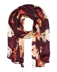 Vince Camuto - Multicolor Brushed Floral Oblong Scarf - Lyst