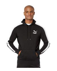 PUMA Black Iconic T7 Hoodie Tr for men