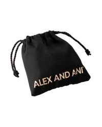 ALEX AND ANI Metallic Triangle And Circle Ring Set Of 2