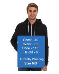 Alternative Apparel Black Rocky Zip Hoodie (eco True Currant) Men's Sweatshirt for men