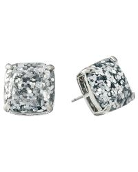 Kate Spade - Metallic Small Square Studs - Lyst
