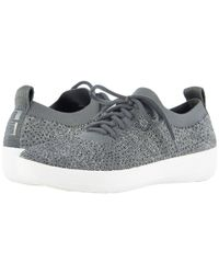 Fitflop - Gray F-sporty Uberknit Sneakers (black) Women's Lace Up Casual Shoes for Men - Lyst