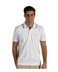 BOSS White Paddy Polo 10102943 (black) Men's Short Sleeve Pullover for men