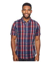 Toad&Co Blue Beckmen Short Sleeve Slim Shirt for men