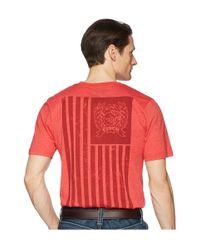 Cinch Red Short Sleeve Jersey Tee for men