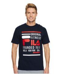 Fila Blue Original Fitness T-shirt (navy) Clothing for men