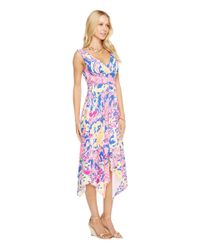 Lilly Pulitzer Sloane Dress (brilliant Blue Catch And Release) Women's Dress