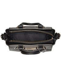 COACH - Black Swagger Carryall 27 In Pebble Leather - Lyst