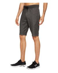 Under Armour Black Sportstyle Terry Tapered Shorts for men