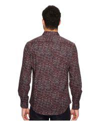 Perry Ellis - Purple Long Sleeve Levels Button Down Shirt for Men - Lyst