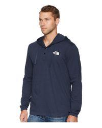 The North Face Blue Heavyweight 1/4 Snap Hoodie (tnf Medium Grey Heather) Men's Sweatshirt for men