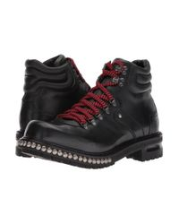 Alexander McQueen Studded Hiking Boot (black) Shoes for men