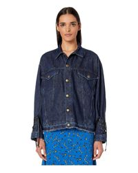 McQ Alexander McQueen Blue Laced Jacket