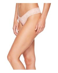Hanky Panky - Pink Petite Signature Lace Low Rise Thong (hibiscus) Women's Underwear - Lyst