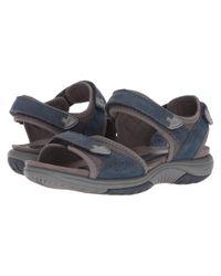 Rockport Blue Franklin Three Strap Sport Sandal