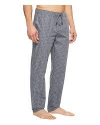 Hanro Gray Night And Day Woven Lounge Pants (grey Check) Men's Pajama for men