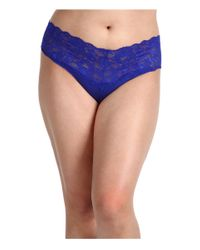 Cosabella Blue Extended Size Never Say Never Lovely Thong