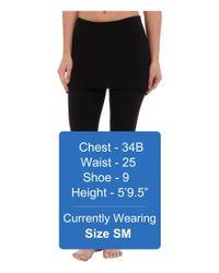 Splendid Black Jersey Legging W/ Oversized Foldover Waist