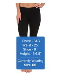 Three Dots Black Cotton Stretch Cropped Legging