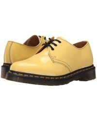 Dr. Martens - Yellow 1461 3-eye Gibson - Lyst
