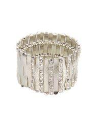 Guess | Metallic Stretch Bars Bracelet | Lyst
