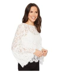 Karen Kane White Bell Sleeve Lace Top