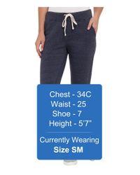 Alternative Apparel | Blue Eco Fleece Jogger Pant | Lyst