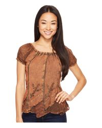 Scully Brown Honey Creek Caitlyn Top