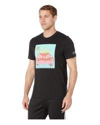 Adidas Originals Black Beavis Butthead Tee (white/multicolor) Men's Short Sleeve Pullover for men