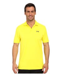 Under Armour - Yellow Performance Polo 2.0 for Men - Lyst