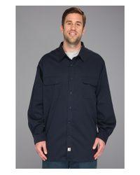 Carhartt | Blue Big & Tall Twill L/s Work Shirt for Men | Lyst