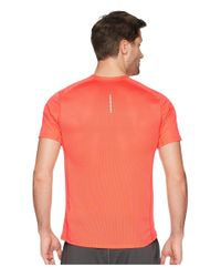 Nike Orange Dry Miler Short Sleeve Running Top (black/black) Men's Clothing for men