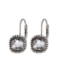 The Sak | Metallic Cushion Stone Leverback Earrings | Lyst