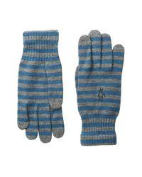 Smartwool   Blue Striped Liner Glove   Lyst