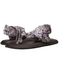 Sanuk   Brown Yoga Slinged Up Ankle Tie Sandal   Lyst