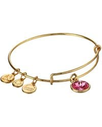 ALEX AND ANI | Metallic October Birthstone Charm Bangle | Lyst